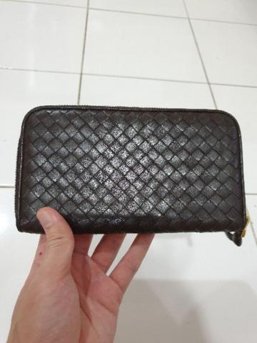 Bottega Veneta Intracciato zippy wallet original authentic not hermes LV bally gucci