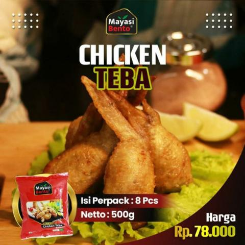 Mayasi Bento Chicken Teba Wings Bonless Full daging Frozen Food Siap Goreng