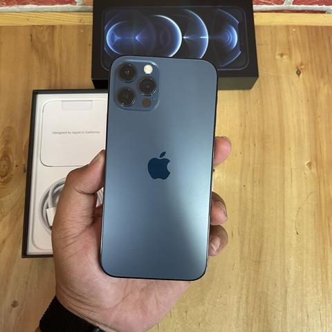 iPhone 12 Pro 128GB Pasific Blue Super Mulus Fullset Original TA/A