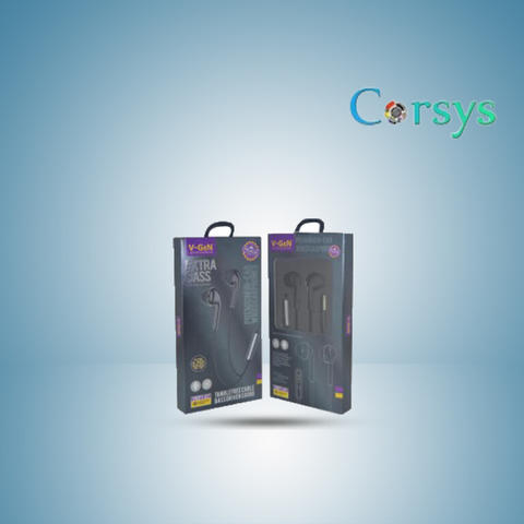 Handsfree Wired Earphone Headset Original Extra Bass by Corsys