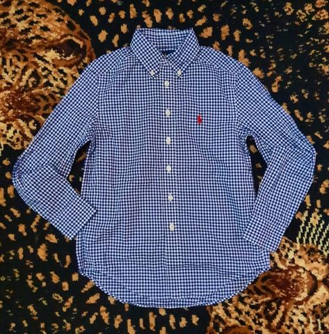 Polo Ralph Lauren Kids Checkered Blue Shirt Original