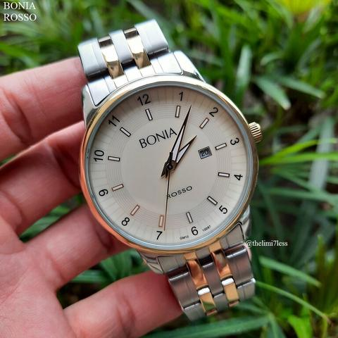 Bonia Rosso Ivory Dial Watch not Gucci or Omega