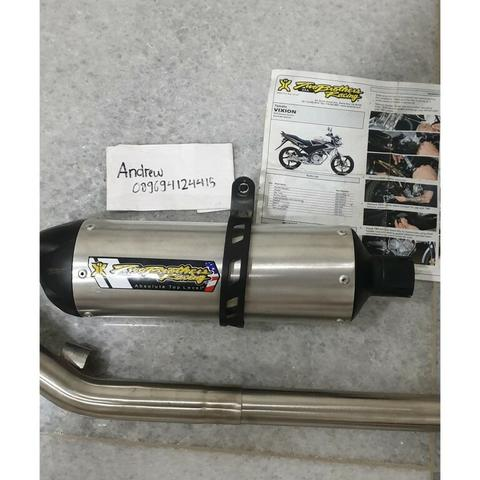 knalpot Two brother silver edition R375 FS Yamaha Vixion