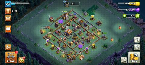 TH14 Level 259 Heroes 80/80/55/30 All Troops Spells Siege Machines Lvl Full Max