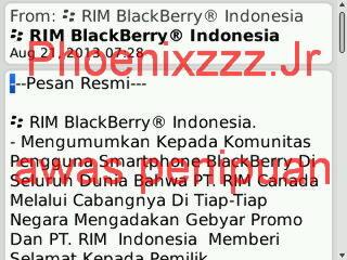 [hati - hati] Awas Penipuan mengatas nama kan BlackBerry Indonesia