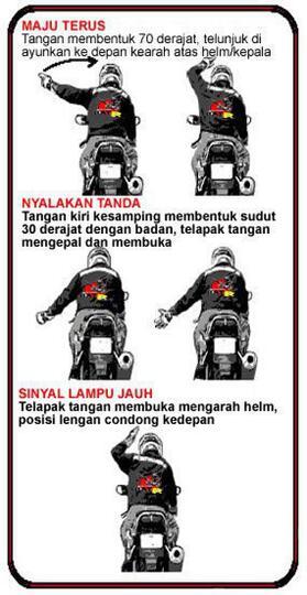 Kode Isyarat Dalam TOURING - Bikers Merapat