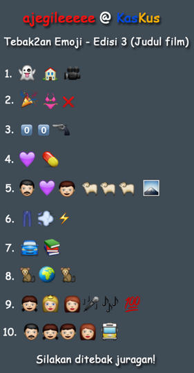 Tebak Tebakan Pake Emoji Update Kaskus