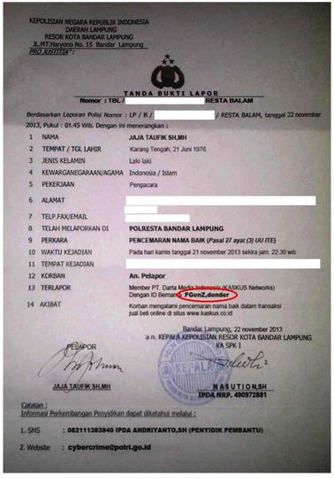 Surat Polisi Palsu Modus Penipuan Baru Di Fjb Kaskus Kaskus