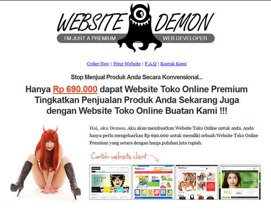 Terjual Jasa Pembuatan Website Toko Online Company Profile Jakarta