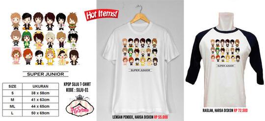 Terjual Kaos KPOP SuJu, SHINee, EXO, SNSD, DLL Lucu Super Murah