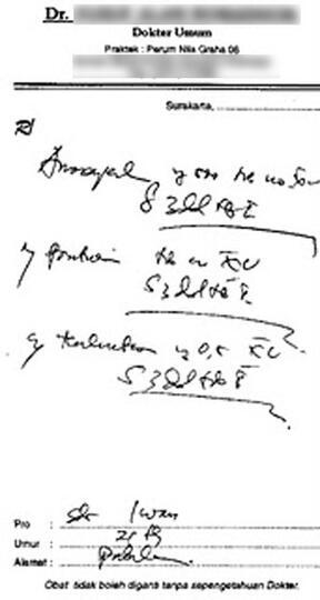 Inilah Rahasia Kode Pada Resep Dokter Kaskus