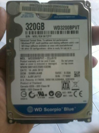 Hdd WDC Sata 2,5 320gb