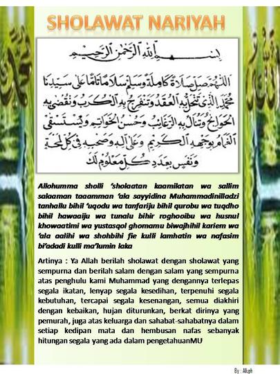 Amalan Sholawat Nariyah Page 13 Kaskus