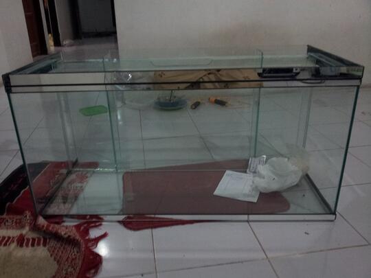 Terjual Jual Aquarium Baru Filter Belakang 100x45x50 Jogja