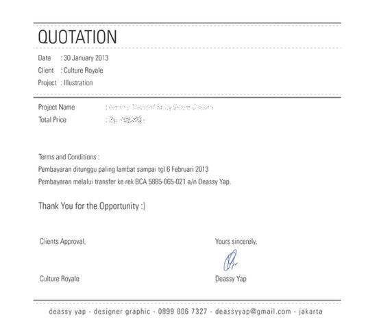 Invoice Fakturnota Kreatif Para Graphic Dan Web Designer