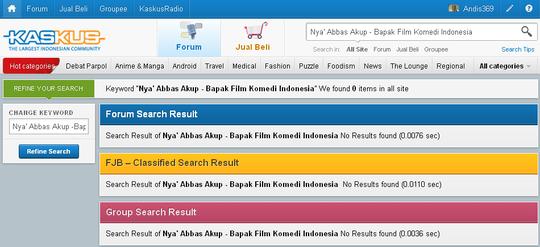 beba08a25c5a1 Balasan  3 dari Nya  Abbas Akup - Bapak Film Komedi Indonesia