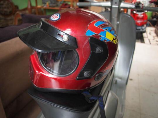Terjual Helm Robot Jadul Merk Kjb Cocok Buat Anak Vespa Honda Cb