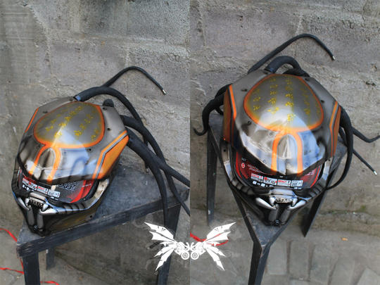 DIJUAL Helm Streetfighter - PREDATOR Style - [N_Concept] Official Product