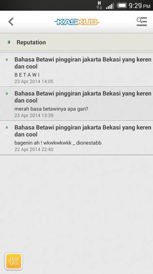Bahasa Betawi pinggiran jakarta Bekasi yang keren dan cool