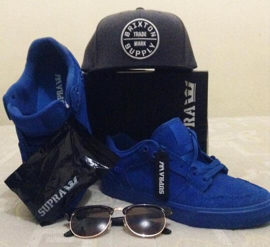 Wts sepatu Supra vaider low royal blue BNIB + snapback Brixton + topman  sunglasses 57f9ed518d