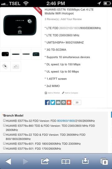 REVIEW DAN DISKUSI MODEM WIFI HUAWEI E5776 SUPPORT BOLT 150 MBPS