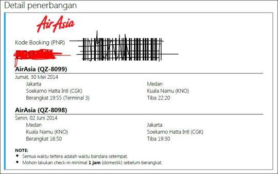 Terjual Jual Tiket Pesawat Air Asia Murah Jakarta Medan