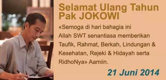 [HBD Pak Jokowi] Jokowi Peringati Hari Lahir Dengan Bersyukur