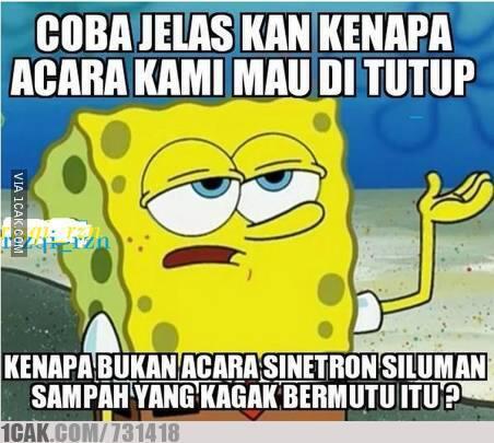 Kumpulan Meme Selamat Tinggal Spongebob di Wancak