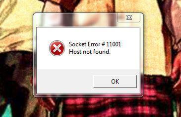 tolongin gan socket error #11001 host not found | KASKUS
