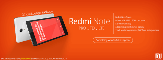 [OFFICIAL LOUNGE] XIAOMI REDMI NOTE - Something Wonderfull is Happening - Part 1