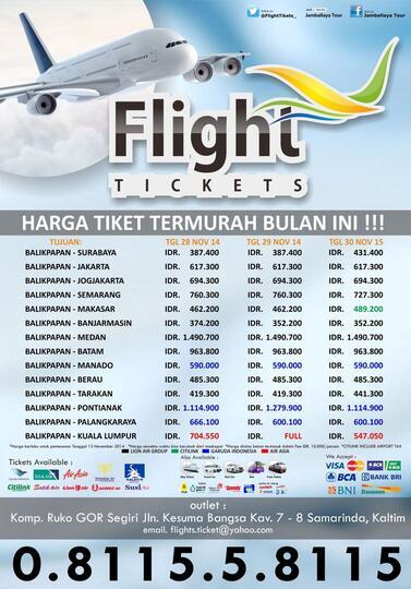 Terjual Tiket Pesawat Murah Promo Dari Bandara Balikpapan Kaskus