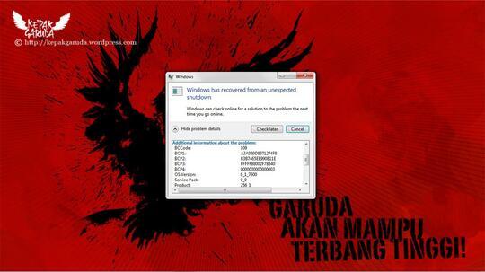 Laptop ane Blue Screen (yang ngerti dapet CENDOL)