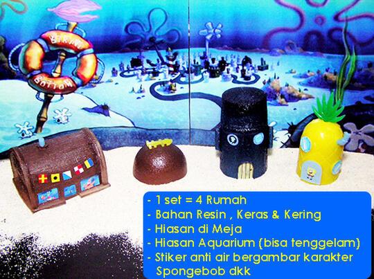 Terjual Miniatur Bikini Bottom Rumah Spongebob Dkk Bandung Kaskus