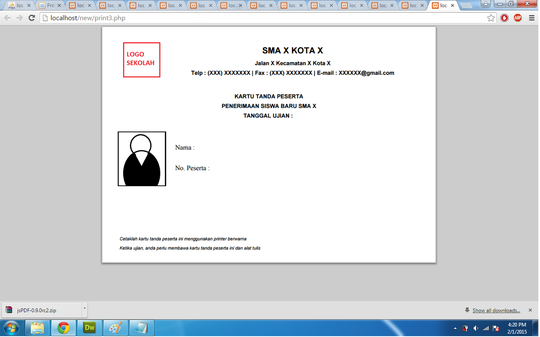 Tanya generate PDF from HTML with FPDF | KASKUS