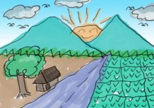 80 Gambar Pemandangan Gunung Anak Sd Terlihat Keren
