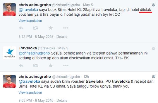 Travelokacom Tidak Seperti Apa Yang Di Promosikan
