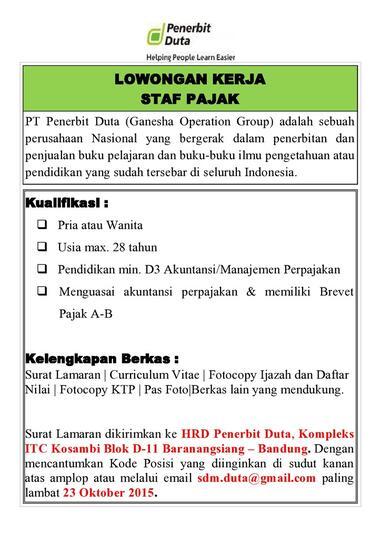 Info Lowongan Kerja Part 2 Page 470 Kaskus