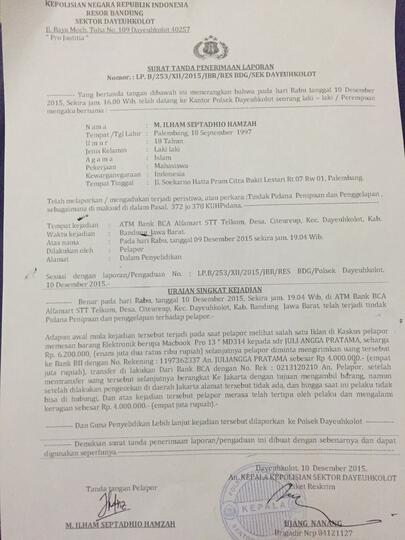 Awas Ada Syetan Penipu Julian Angga Pratama 085767399729 Kaskus