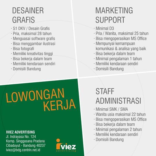 Lowongan Kerja Design Grafs Desainer Disain Grafis Bandung