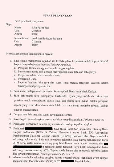 Klarifikasi Kasus Yang Mengatas Namakan Lisa Rs Dan Andryan Bp Kaskus