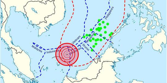 Ini Peta Lokasi Bentrok TNI AL & AL China di Laut Natuna