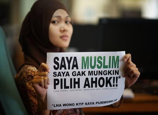 SAYA MUSLIM, SAYA GAK MUNGKIN PILIH AHOK!!