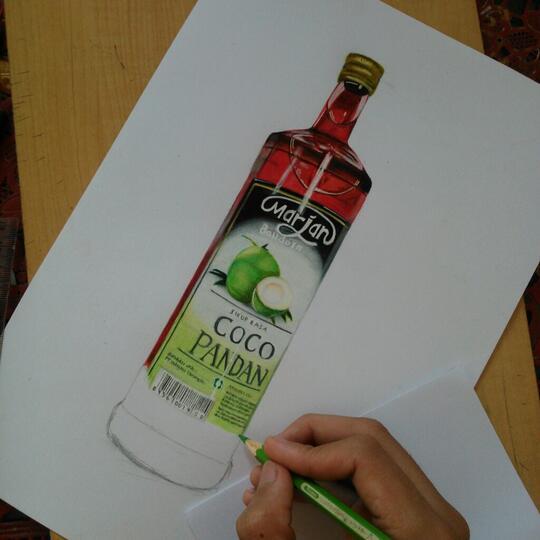 Menggambar Botol Sirup Marjan Realistis Page 8 Kaskus