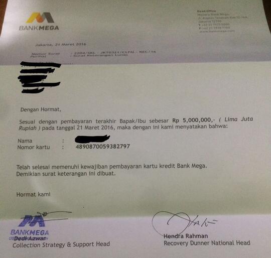 Contoh Surat Keterangan Lunas Kredit Dari Bank - Dapatkan ...
