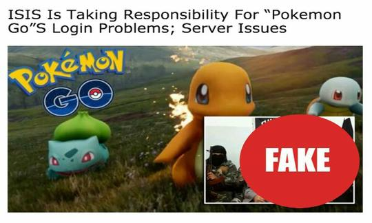 Nih Gan, Kumpulan Berita Hoax Pokemon Go Yang Sempat Ngetop Di Sosmed
