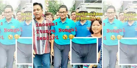 Blusukan, Sandiaga Uno diduga Lupa Pakai Celana Dalam