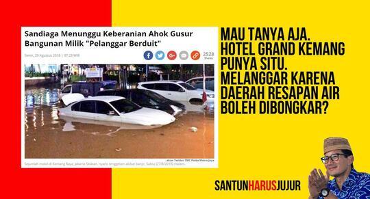 Sandiaga Uno Mengaku Punya Strategi Jitu Tangani Banjir di Jakarta