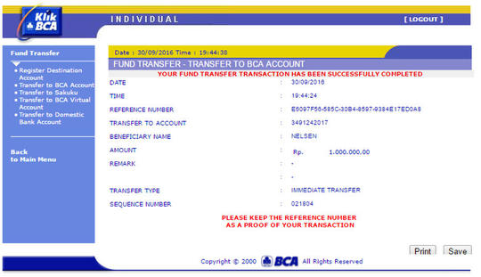 Penipuan Oleh Rekening Bca 3491242017 An Nelsen Kaskus
