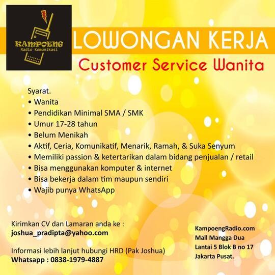 Loker Cs Admin Online Shop Di Jakarta Utara Jakarta Pusat Kaskus