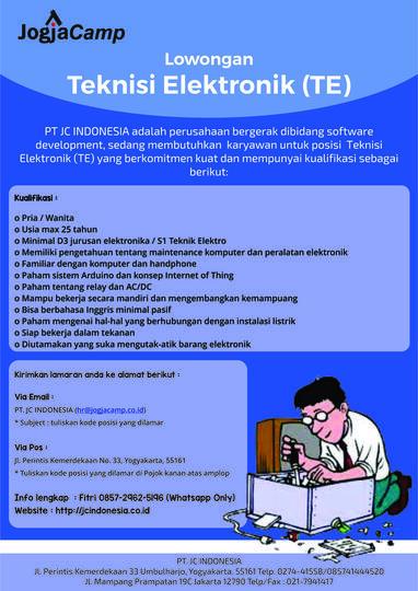 Lowongan Kerja Teknisi Elektronik Te Kaskus